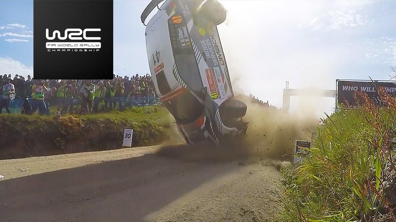 wrc 2 - vodafone rally de portugal 2017: crash quentin gilbert - youtube