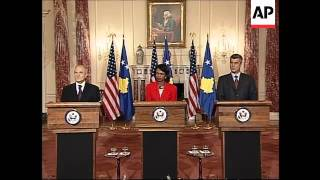 US Secretary of State comments on Kosovo and Iran