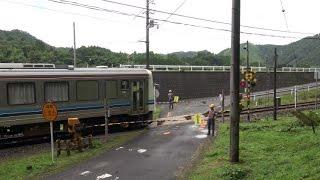 JR三江線 運転再開前の試運転列車 [下り] (17-July-2014)