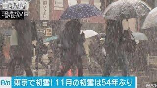 الثلوج تتساقط على طوكيو لأول مرة في نوفمبر منذ 54 عاما