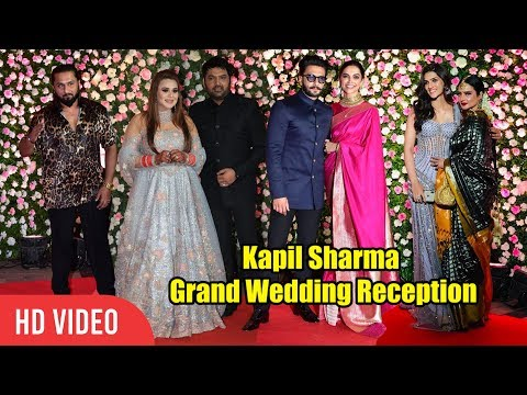 Kapil Sharma's GRAND Wedding Reception | FULL VIDEO | Deepika, Ranveer, Rekhan, Honey Singh