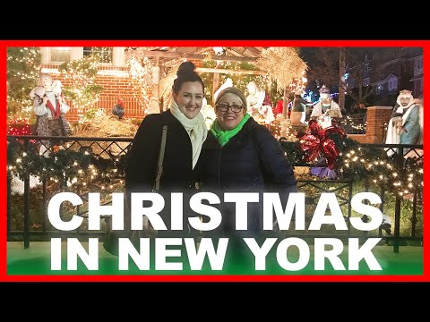 CHRISTMAS IN NYC / Dyker Heights & Rockefeller Center
