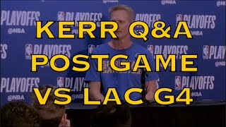 Entire KERR postgame: KD (Durant)/Klay; Steph Curry struggling,