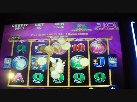 5 Koi Deluxe OVER 100X WIN Slot Machine Bonus Round Free Games Big Win