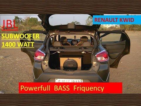 Renault Kwid || JBL 1400 Watt Car Woofer with SONY Amplifier Review