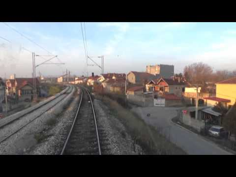 Train Driver's view: railroad in Serbia from Niš to Crveni Krst - SERBIAN RAILWAYS