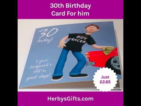 30th Birthday Card For Him A Man Age 30