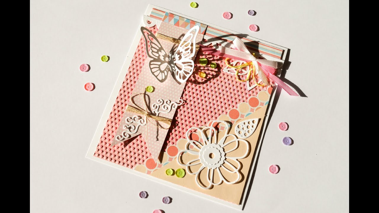 How To Make Greeting Card Wedding Butterfly Step By Step