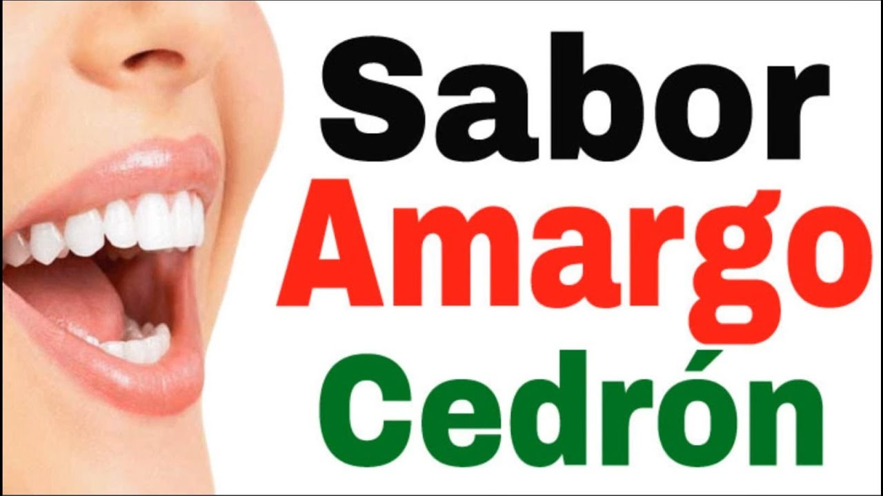 remedios para amargor de boca