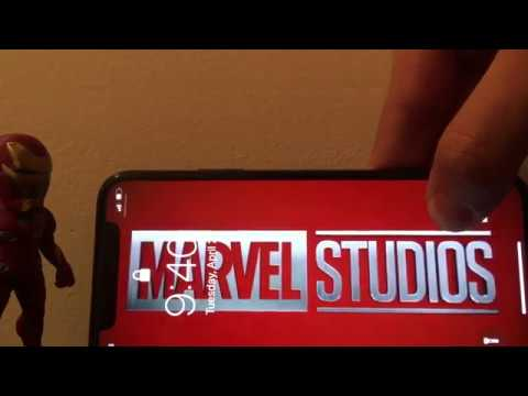 Custom Marvel (MCU) Intro Live Wallpaper on iPhone X