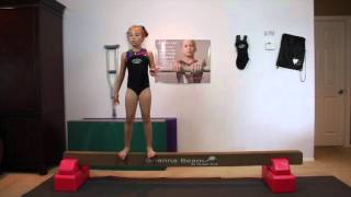 Cartwheel on Beam Tutorial Part II   Hunter in the Gym