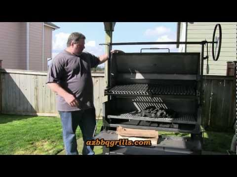SmokingPit.com - Burn in and Seasoning the Scottsdale Wood fired Pit by Arizona BBQ Outfitters