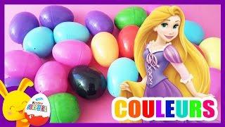 Compétition des couleurs Princesses Disney - Oeufs surprises - Couleurs - Titounis - Touni Toys