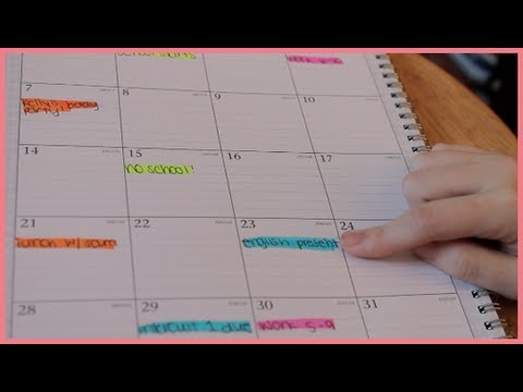 How to Organize an Agenda Back to School 2013 - YouTube - school agenda