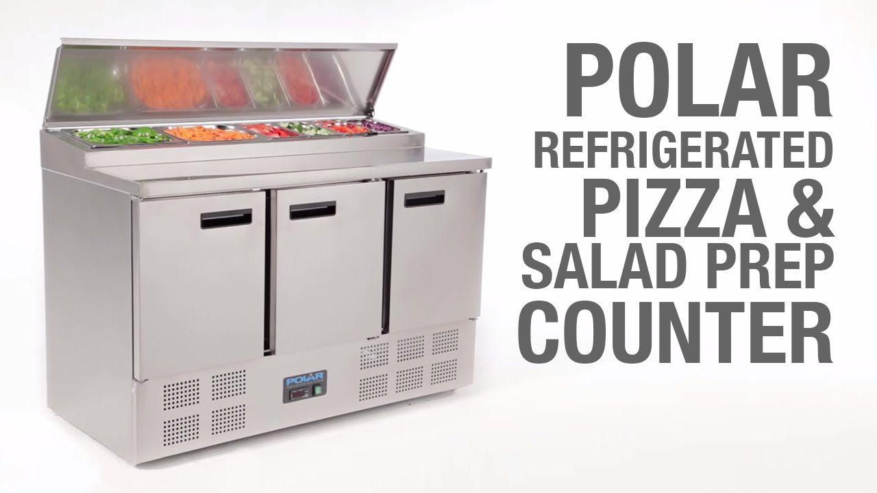 Polar Refrigerated Pizza And Salad Prep Counter 390Ltr (G605)