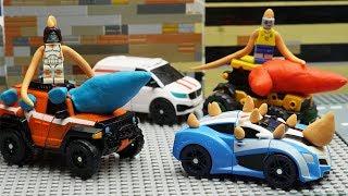 LEGO Virus Attack! Tobot Robot Arcade mini Car 💖 Play Doh Cartoons Adventure Toys