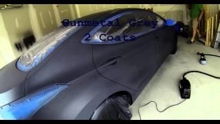Plasti Dipped Hyundai Elantra Anthracite Grey True Metallic