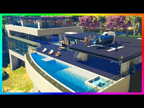 EXPLORING $100,000,000 WORTH OF NEW GTA 5 MANSION MODS, GIANT LUXURY SKYSCRAPERS & MEGA HOUSES!