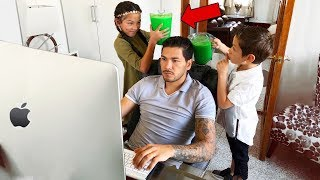 SLIME PRANK IN MY DAD'S OFFICE!! | Familia Diamond