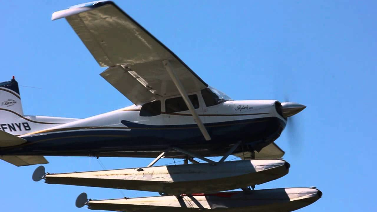 [HD] Cessna 175 On Floats Takeoff CSU3