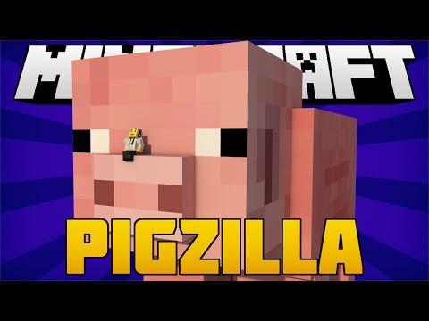 PORCO GIGANTE! - Pigzilla [1.7.2] MOD - Minecraft
