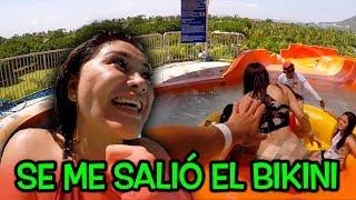 A Gomita se le sale el bikini en el parque Acuatico |Soy Fredy