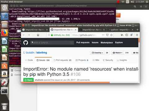 labelImg master ImportError: No module named 'resources' when installed by  pip with Python 3 5 #106