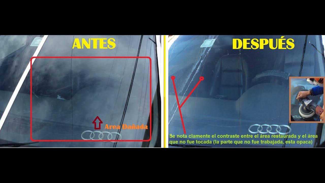 Eliminar rayones parabrisas pulido cristales rayados - Como pulir faros de coche ...