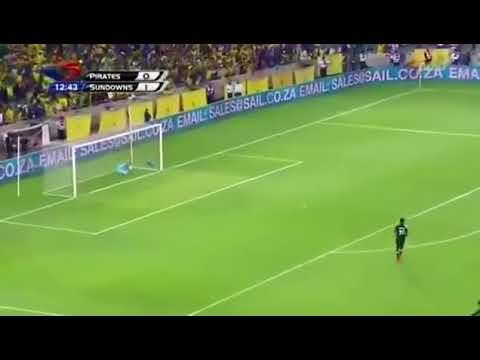 Hlompho kekana's Goal from the center Orlando pirates vs Sundowns 1 November 2017