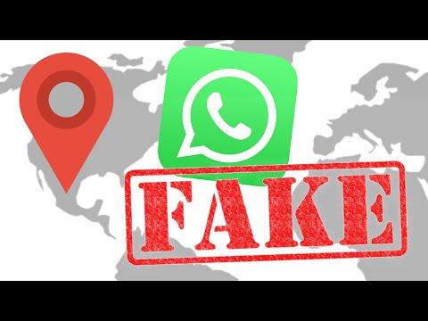 whatsapp standort faken
