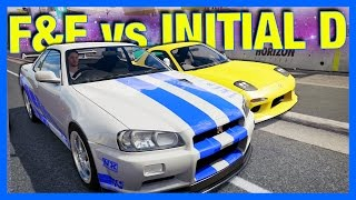 Forza Horizon 3 Online : Fast And Furious vs Initial D!!!