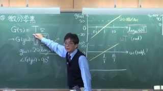 慶應大学講義 制御工学同演習第六回 ボード線図の描き方