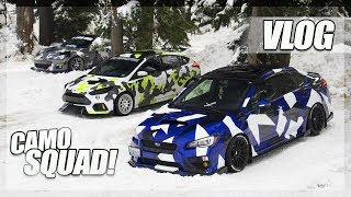THREE Camo Wrapped Cars Hit The Snow! (Vlog)