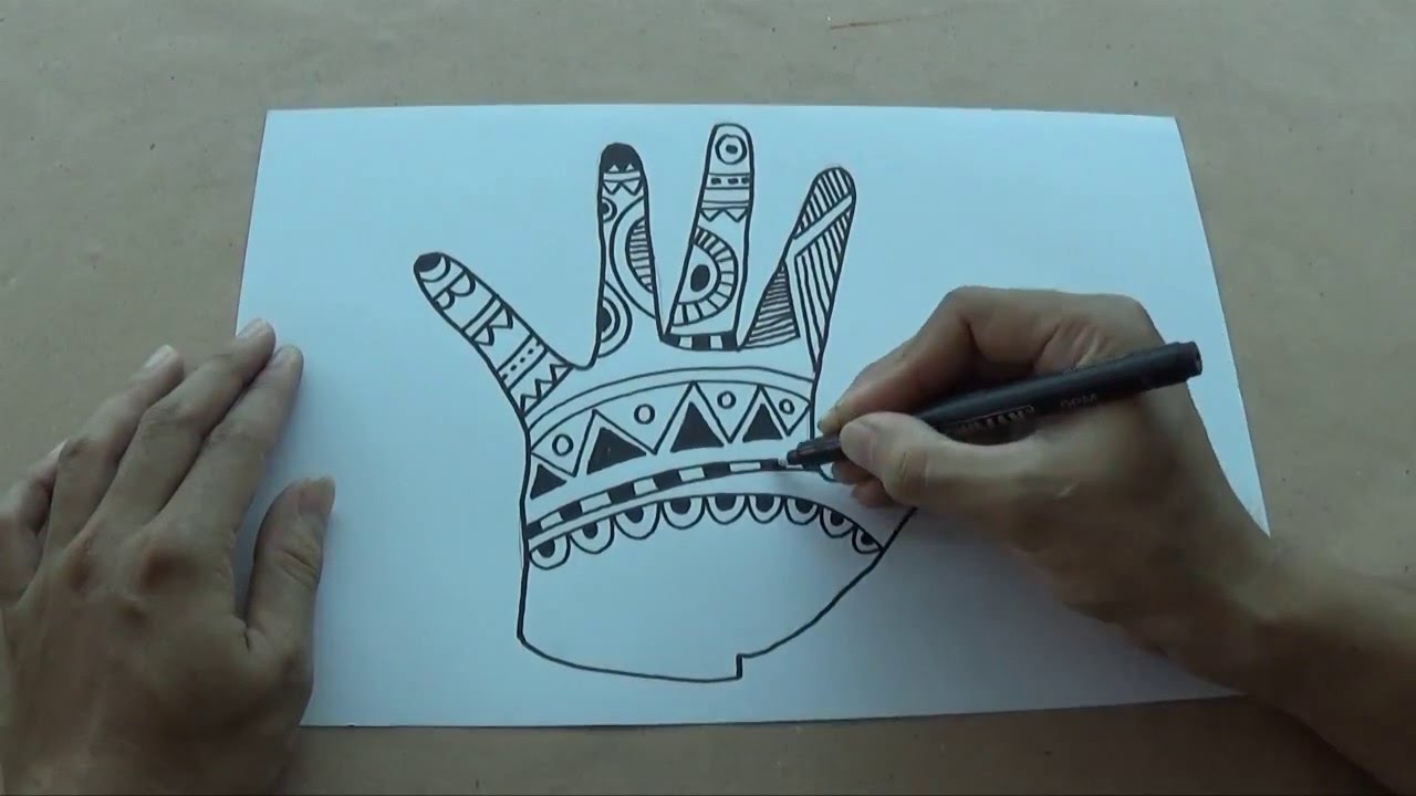 How to draw zentangle art for kids YouTube