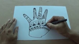 How to draw zentangle art for kids
