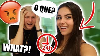 SPEAKING ONLY PORTUGUESE TO MY BOYFRIEND FOR 24 HOURS *HE DOESN'T UNDERSTAND*