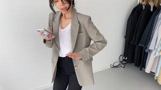 여자봄코디 민트자켓 스판코튼팬츠 | 사색 쇼핑몰 촬영 …
