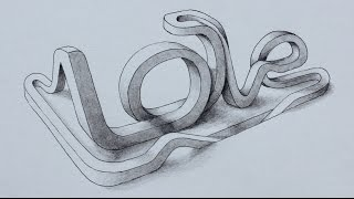 Speed Art - Rollercoaster of love! - 3D typography