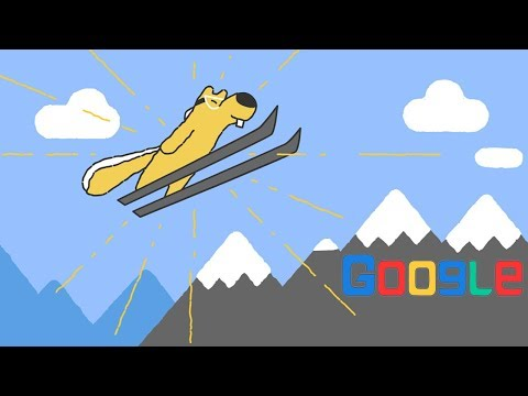 Winter Olympics (Day 12 of the Doodle Snow Games - Ski jumping) February 20, 2018