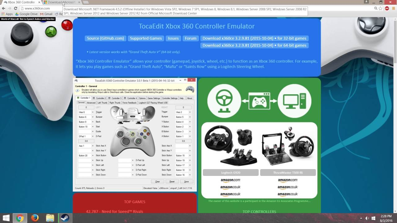 xbox controller for pc emulator