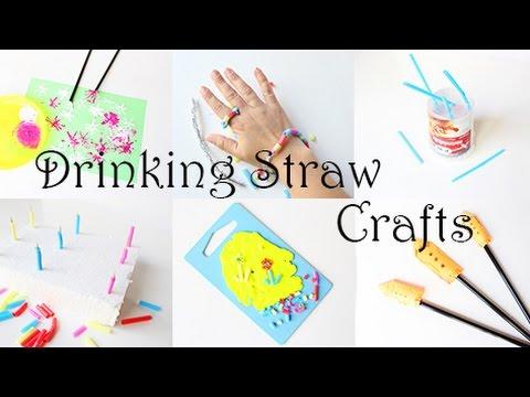 8 Ideen Zum Basteln Malen Und Spielen Mit Strohhalmen Video