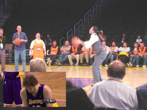 Jordan Farmar's Imitation Of Pau Gasol & Derek Fisher's 0.4 Second Shot