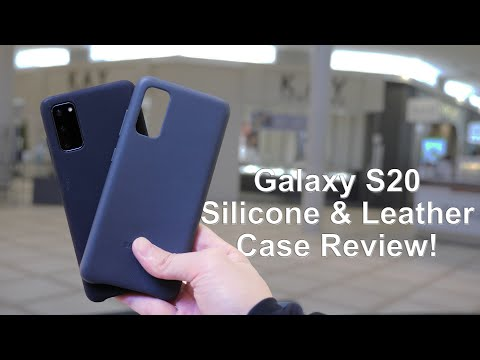 Samsung Galaxy S20 Leather And Silicone Cases Review!