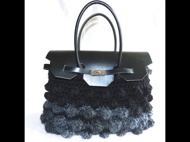 Borse in lana e in fettuccia   video creazioni  Bolsos de trapillo
