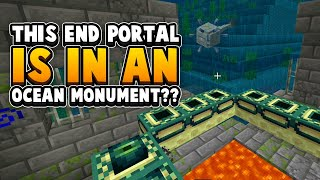 This End Portal Is INSIDE An Ocean Monument - Broken Minecraft Seed