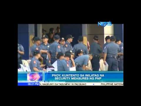 PNOY 'Satisfied' with PNP's Security Measure
