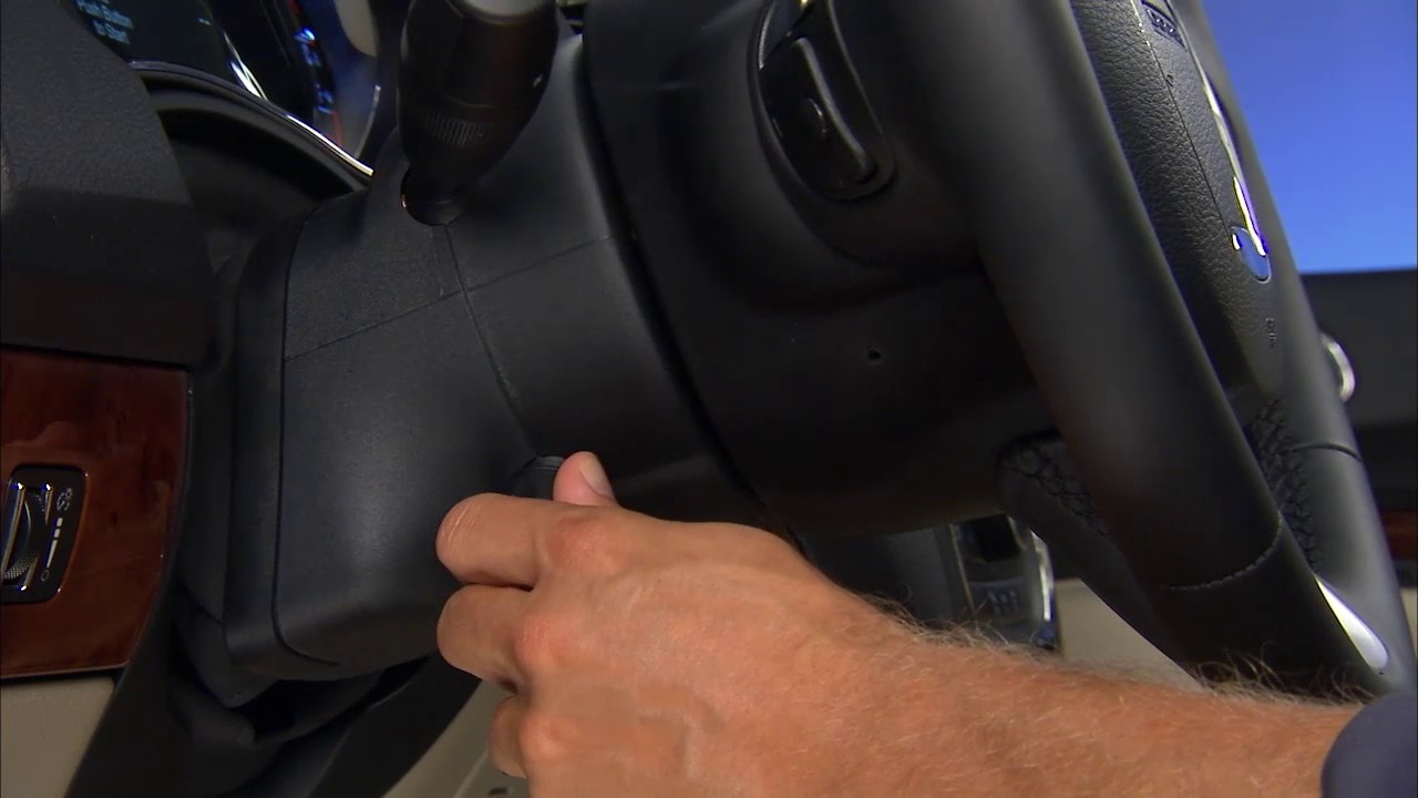 power tilt telescoping steering column adjust the tilt steering wheel on 2018 dodge durango [ 1280 x 720 Pixel ]