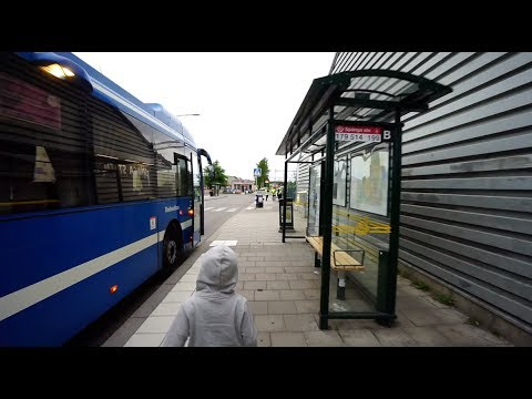 Sweden, Stockholm, ride with bus No 179 from Spånga train station to Tensta