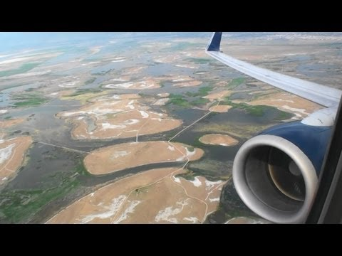 The Great Salt Lake!  Awesome HD 737-800 Takeoff From Salt Lake City!!!