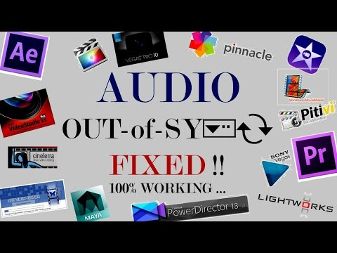 How to Quick Fix Any Audio Video Out of Sync issues Post Editing - Synchronize Audio Video Easily !!